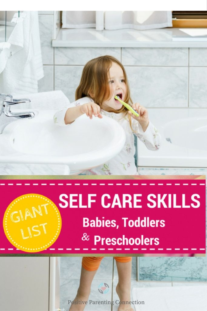 Giant List of Self-Care Skills for Babies,Toddlers and ...
