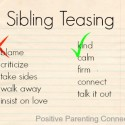 Positive Parenting: Siblings & Teasing